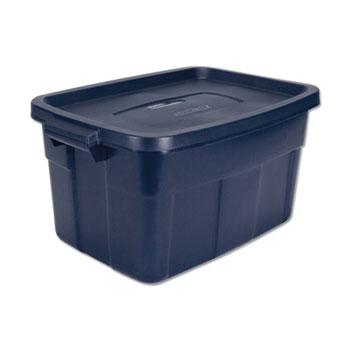 Rubbermaid® Roughneck Storage Box, 15 7/8w x 23 7/8d x 12 1/4h, Dark Indigo Metallic