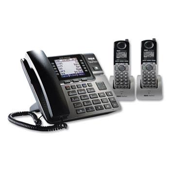 RCA® Unison 1-4 Line Wireless Phone System Bundle, 2 Additional Cordless Handsets