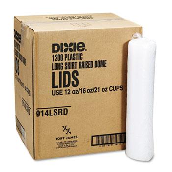 Dixie® Plastic Lids for Pathways Cold Drink Cups, 12 & 16oz, 1200/Carton