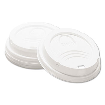 Dixie® Lid, Fits 8 oz Small Hot Cups, White, 1000/CT