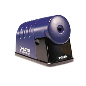 X-ACTO® Powerhouse Desktop Electric Pencil Sharpener, Translucent Blue