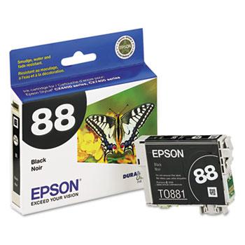 Epson® T088120 (88) Ink, Black