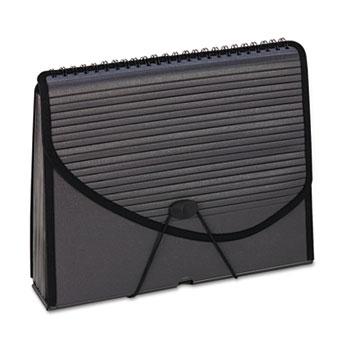 Pendaflex® 13-Pocket Expanding Spiral File, Letter, Foam Poly, Smoke
