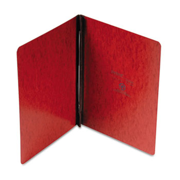 """Oxford™ PressGuard Coated Report Cover, Prong Clip, Letter, 3"""" Capacity, Red"""