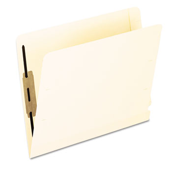 Laminated Spine End Tab Folder with 2 Fastener, 11 pt Manila, Letter, 50/Box