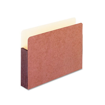 Pendaflex® Watershed 5 1/4 Inch Expansion File Pockets, Straight Cut, Legal, Redrope