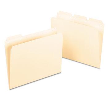 Pendaflex® Ready-Tab File Folders, 1/3 Cut Top Tab, Letter, Manila, 50/Box