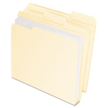 DoubleStuff File Folders, 1/3 Cut, Letter, Manila, 50/Pack