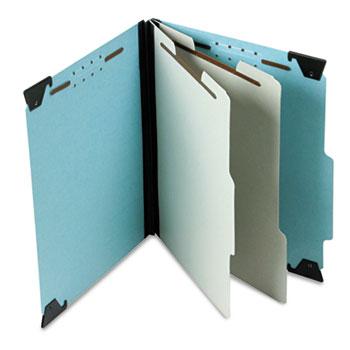 Pendaflex® Pressboard Hanging Classi-Folder, 2 Divider/6-Sections, Letter, Blue