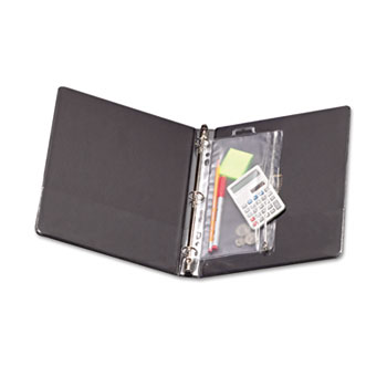 Oxford™ Zippered Ring Binder Pocket, 8 x 10-1/2, Clear/White