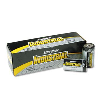 Energizer® Industrial Alkaline Batteries, D, 12/BX, 6 BX/CT