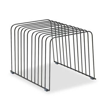 Fellowes® Wire Desktop Organizer, 11 Comp, Steel, 9 x 11 3/8 x 8, Black