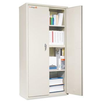 FireKing® Storage Cabinet, 36w x 19-1/4d x 72h, UL Listed 350°, Parchment