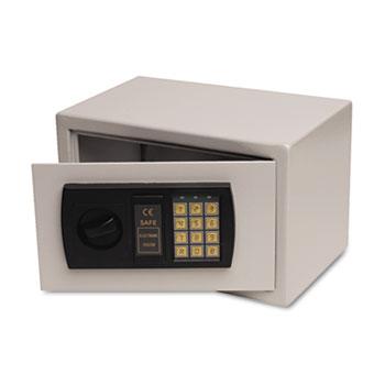 Gary® by FireKing® Personal Safe, 0.3 ft3, 12-1/4w x 7-3/4d x 7-3/4h, Light Gray