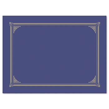 Geographics® Certificate/Document Cover, 12 1/2 x 9 3/4, Metallic Blue, 6/Pack