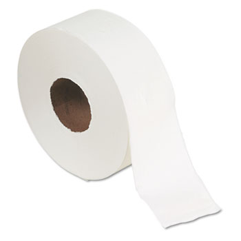 "Jumbo Jr. Bath Tissue Roll, 9"" dia, 1000ft, 8 Rolls/Carton"