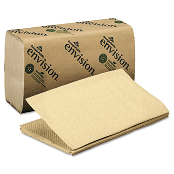 1 Fold Paper Towel, 10 1/4 x 9 1/4, Brown, 250/Pack, 16 Packs/Carton