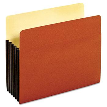 Pendaflex® File Pocket with Tyvek, Top Tab, Straight Cut, 1 Pocket, Letter, Brown, 10/BX
