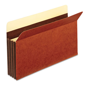 Heavy-Duty File Pockets, Straight Cut, 1 Pocket, Legal, Redrope