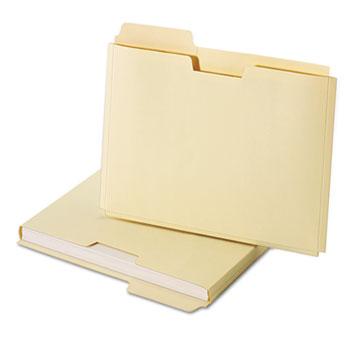 Globe-Weis® Expanding File Folder Pocket, Letter, 11 Point Manila, 10/Pack