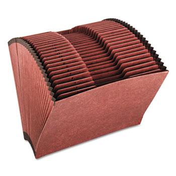 Pendaflex® Heavy-Duty Expanding Open Top File, 31 Pockets, 1/3 Tab, Letter, Brown