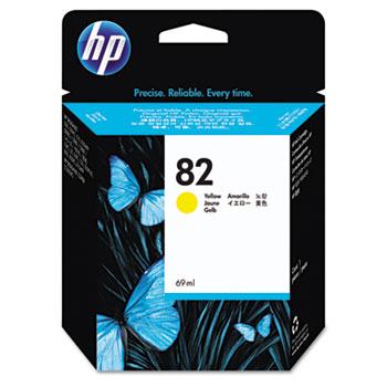 HP 82, (C4913A) Yellow Original Ink Cartridge