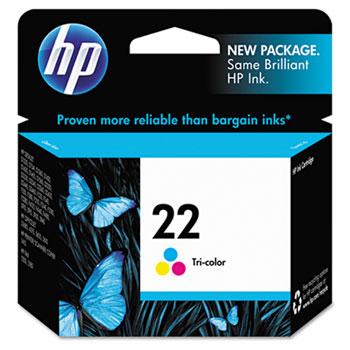 HP 22 Ink Cartridge, Tri-color (C9352AN)