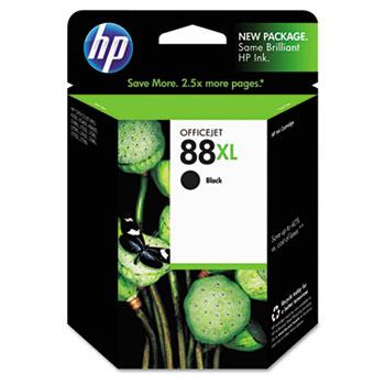 HP 88XL Ink Cartridge, Black (C9396AN)