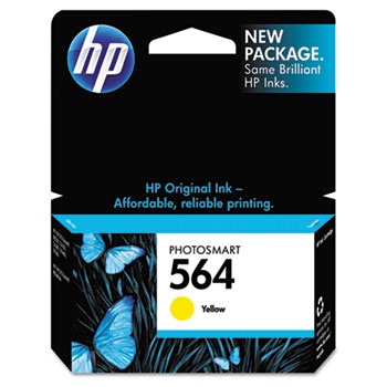 HP 564 Ink Cartridge, Yellow (CB320WN)