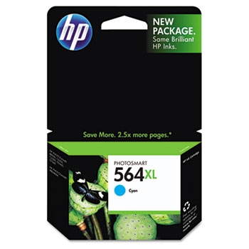 564XL Ink Cartridge, Cyan (CB323WN)