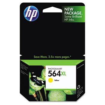 HP 564XL Ink Cartridge, Yellow (CB325WN)