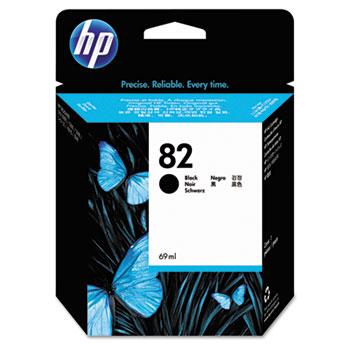 HP 82, (CH565A) Black Original Ink Cartridge