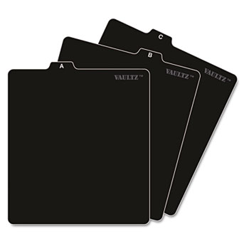 Vaultz® A-Z CD File Guides, 5 x 5 3/4, Black
