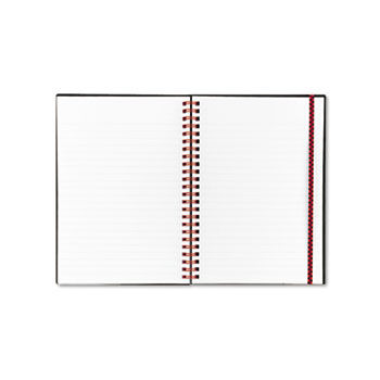 Black n' Red™ Twin Wire Poly Cover Notebook, Legal Rule, 5 5/8 x 8 1/4, White, 70 Sheets