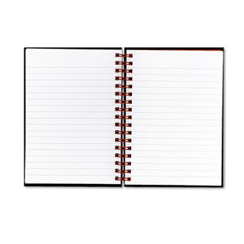 Black n' Red™ Twinwire Hardcover Notebook, Legal Rule, 5 7/8 x 8 1/4, White, 70 Sheets