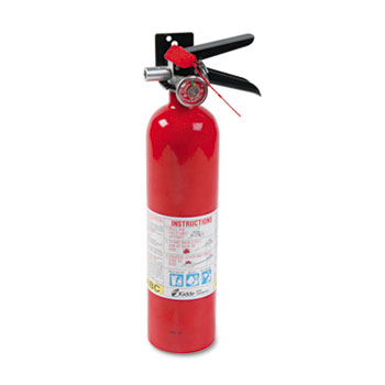 Kidde ProLine Pro 2.5 MP Fire Extinguisher, 1 A, 10 B:C, 100psi, 15h x 3.25 dia, 2.6lb