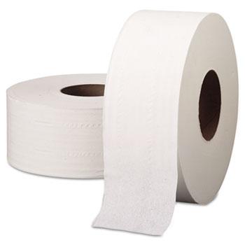 "Scott® JRT Jumbo Roll Bathroom Tissue, 2-Ply, 9"" dia, 1000ft, 4/Carton"