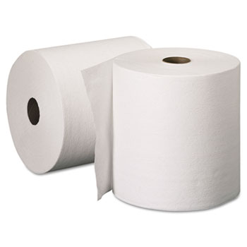 "Essential™ Plus Hard Roll Towels, 8 x 600', 1 3/4"" Core dia, White, 6 Rolls/Carton"
