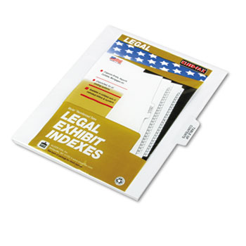 """Legal Tabs 80000 Series Dividers, 1/5 Cut Center Tabs, """"Table of Contents"""", 25/Pack"""