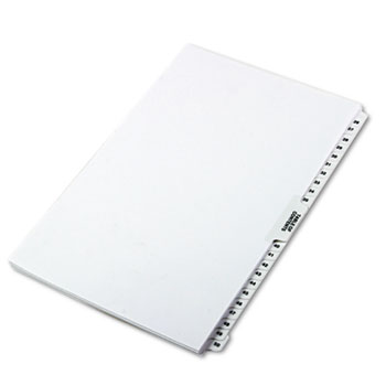 "Legal Tabs 80000 Series Side Tab Legal Index Divider Set, Printed ""26""-""50"""