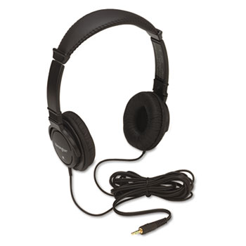 Kensington® Hi-Fi Headphones, Plush Sealed Earpads, Black