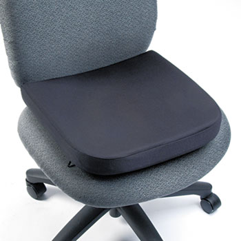 "Kensington® Memory Foam Seat Rest, 13-1/2""w x 14 1/2""d x 2""h, Black"