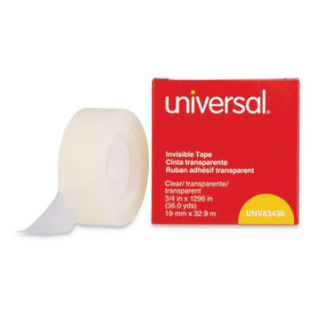 """Invisible Tape, 1"""" Core, 0.75"""" x 36 yds, Clear"""
