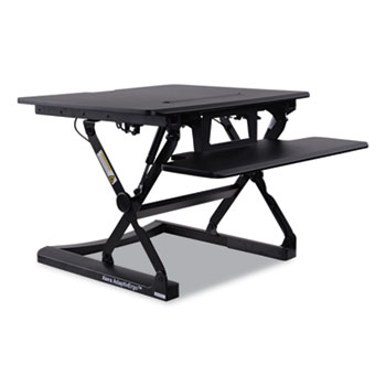 "Alera® AdaptivErgo Sit Stand Lifting Workstation, 26.75"" x 31"" x 5.88"" to 19.63"", Black"