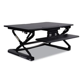 "Alera® AdaptivErgo Sit Stand Lifting Workstation, 35.13"" x 23.38"" x 5.88"" to 19.63"", Black"