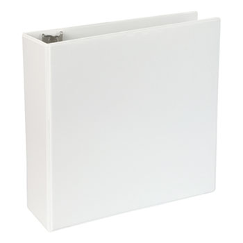 "Slant-Ring View Binder, 3 Rings, 4"" Capacity, 11 x 8.5, White"