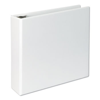 "Slant-Ring View Binder, 3 Rings, 3"" Capacity, 11 x 8.5, White"