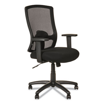 Alera® Alera Etros Series High-Back Swivel/Tilt Chair, Supports up to 275 lbs, Black Seat/Black Back, Black Base