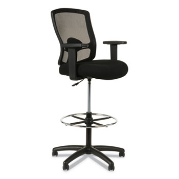 """Alera® Alera Etros Series Mesh Stool, Supports Up to 275 lb, 25.19"""" to 35.23"""" Seat Height, Black"""
