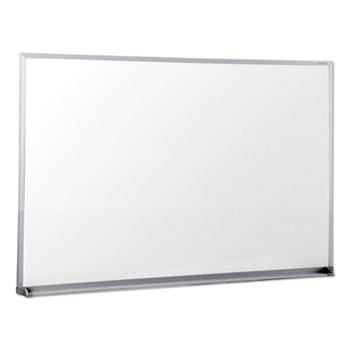 Universal® Dry Erase Board, Melamine, 36 x 24, Satin-Finished Aluminum Frame